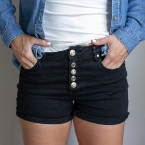 Dex high waisted button fly shorts